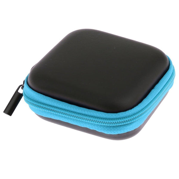 Mini Square Carrying Pouch for Earphones & Cables - Blue-Hamee India