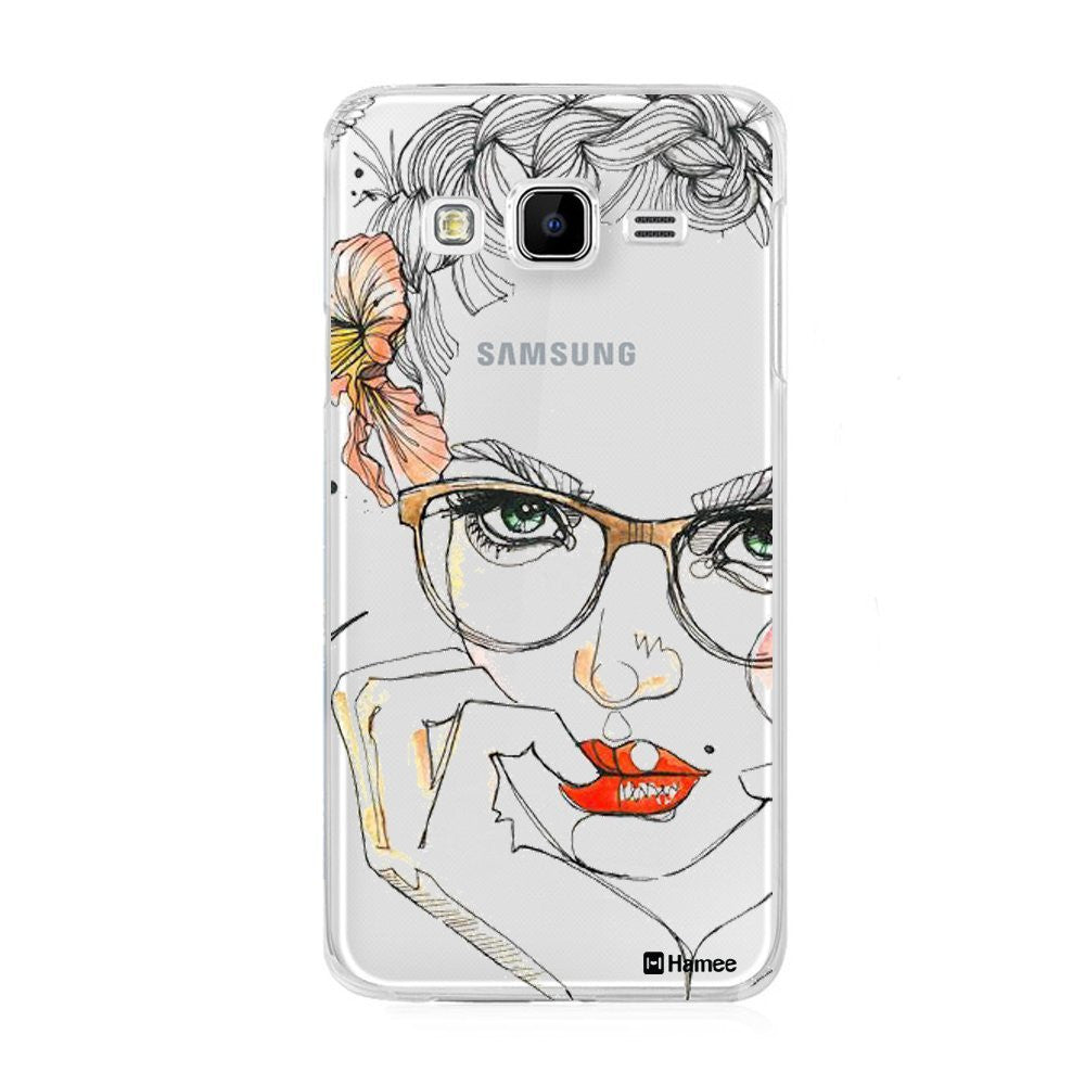 Hamee Face Outline Designer Cover For Samsung Galaxy J3 - Hamee India
