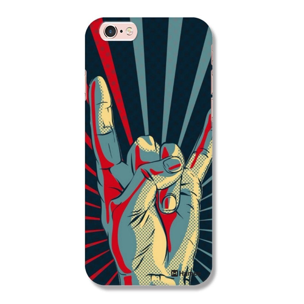 Hamee Hand / Blue X Red Designer Cover For iPhone 5 / 5S / Se-Hamee India