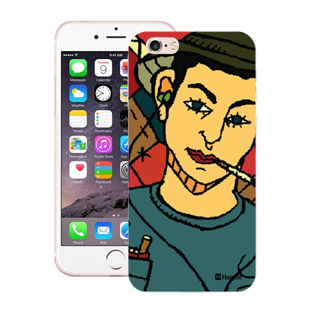 Hamee Smoking Guy Designer Cover For Apple iPhone 6 Plus / 6S Plus-Hamee India