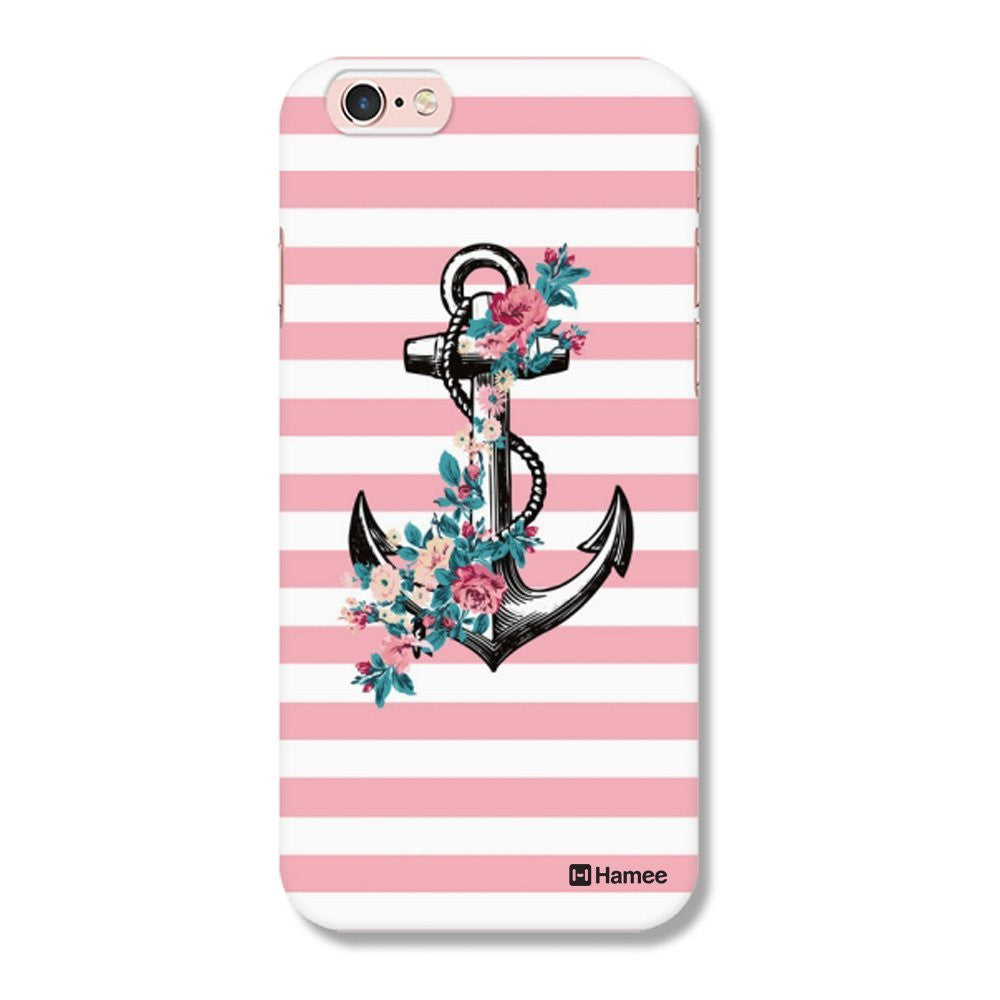 Hamee Anchor / Pink X White Designer Cover For iPhone 5 / 5S / Se - Hamee India