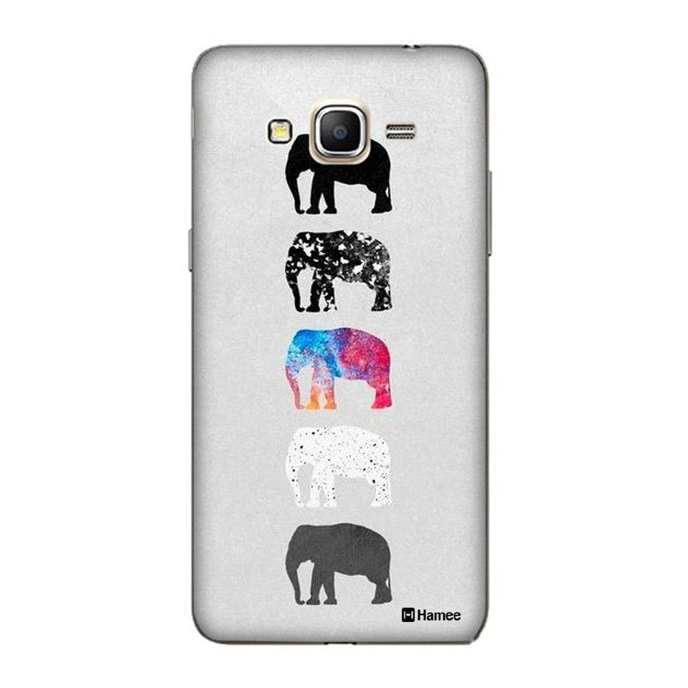 Hamee Elephants On Grey Designer Cover For Samsung Galaxy J7-Hamee India