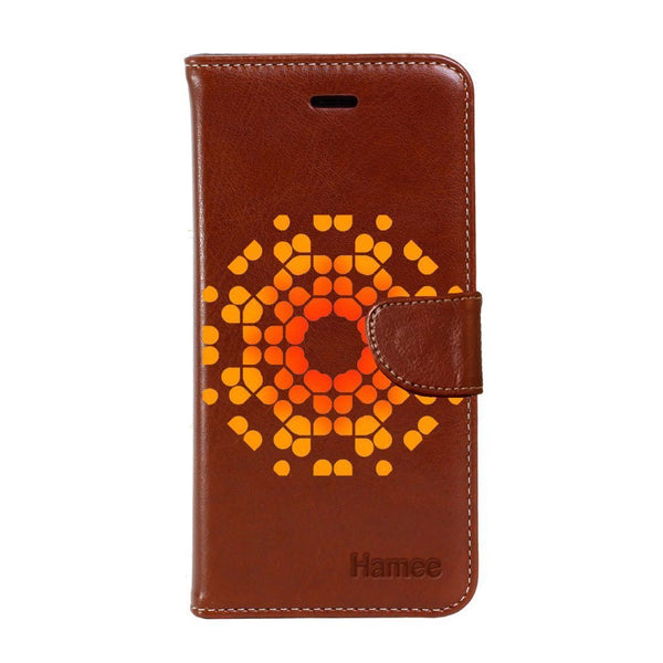 Hamee - Crystal Mandala - Premium PU Leather Flip Diary Card Pocket Case Cover Stand for Moto Z2 Play