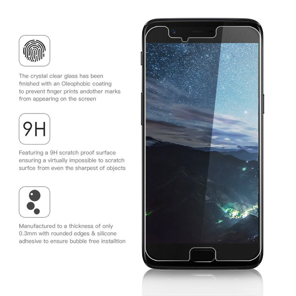 Hamee 9H Scratch Resistant Screen Guard for One Plus 5