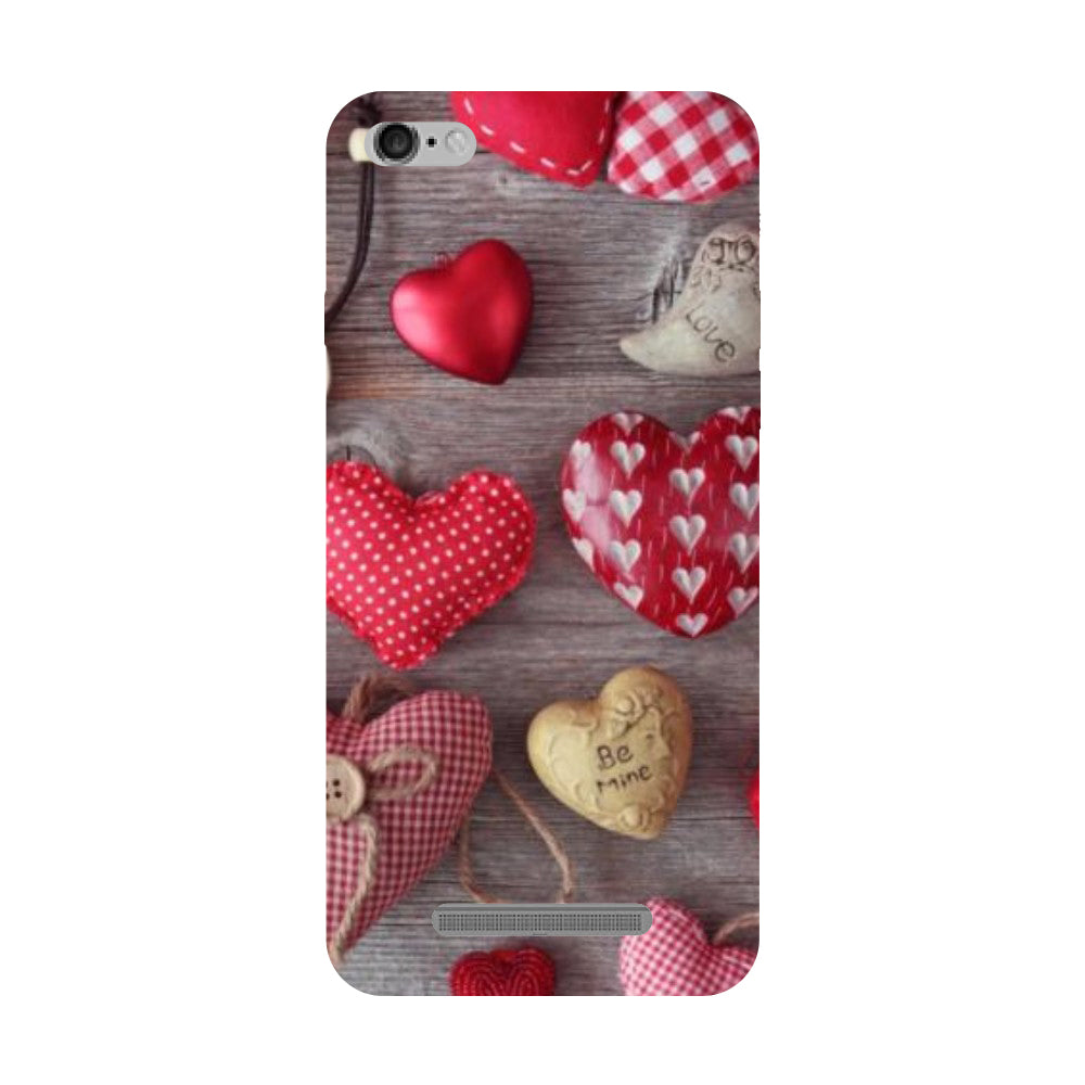 low priced 2185b d9ff7 Hearts & Love Redmi 5A Back Cover