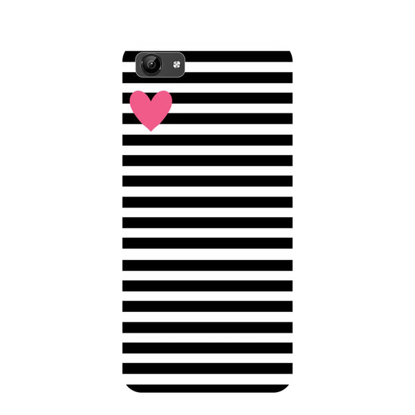 Stripes heart- Printed Hard Back Case Cover for Vivo Y71-Hamee India