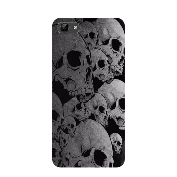 Skulls- Printed Hard Back Case Cover for Vivo Y71-Hamee India