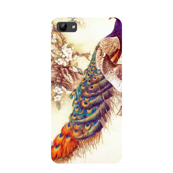 Yellow peacock- Printed Hard Back Case Cover for Vivo Y71-Hamee India