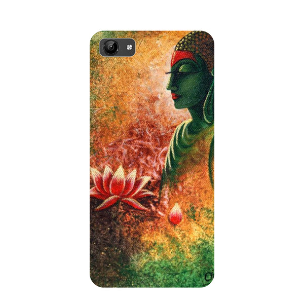 Buddha side pose- Printed Hard Back Case Cover for Vivo Y71