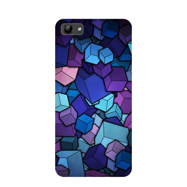 Cubes- Printed Hard Back Case Cover for Vivo Y71-Hamee India