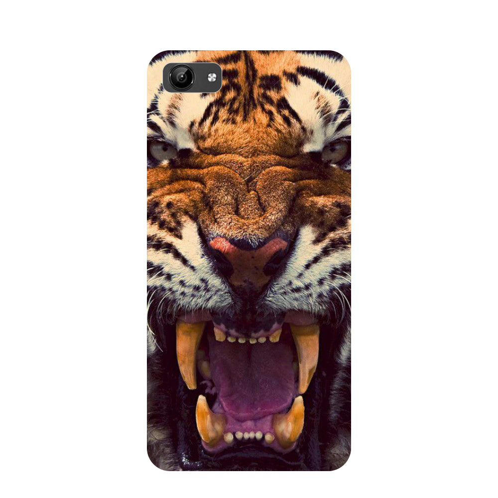 Tiger- Printed Hard Back Case Cover for Vivo Y71-Hamee India