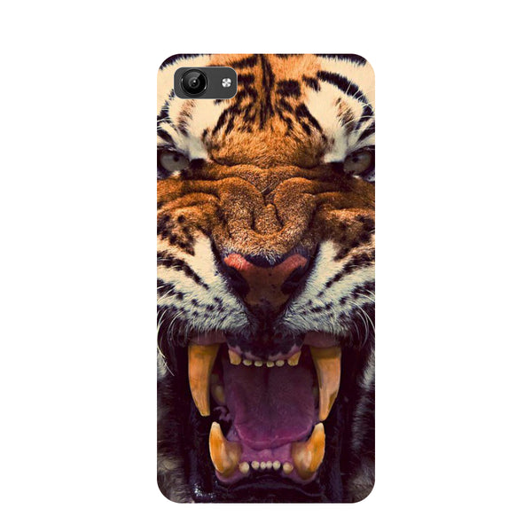 Tiger- Printed Hard Back Case Cover for Vivo Y71