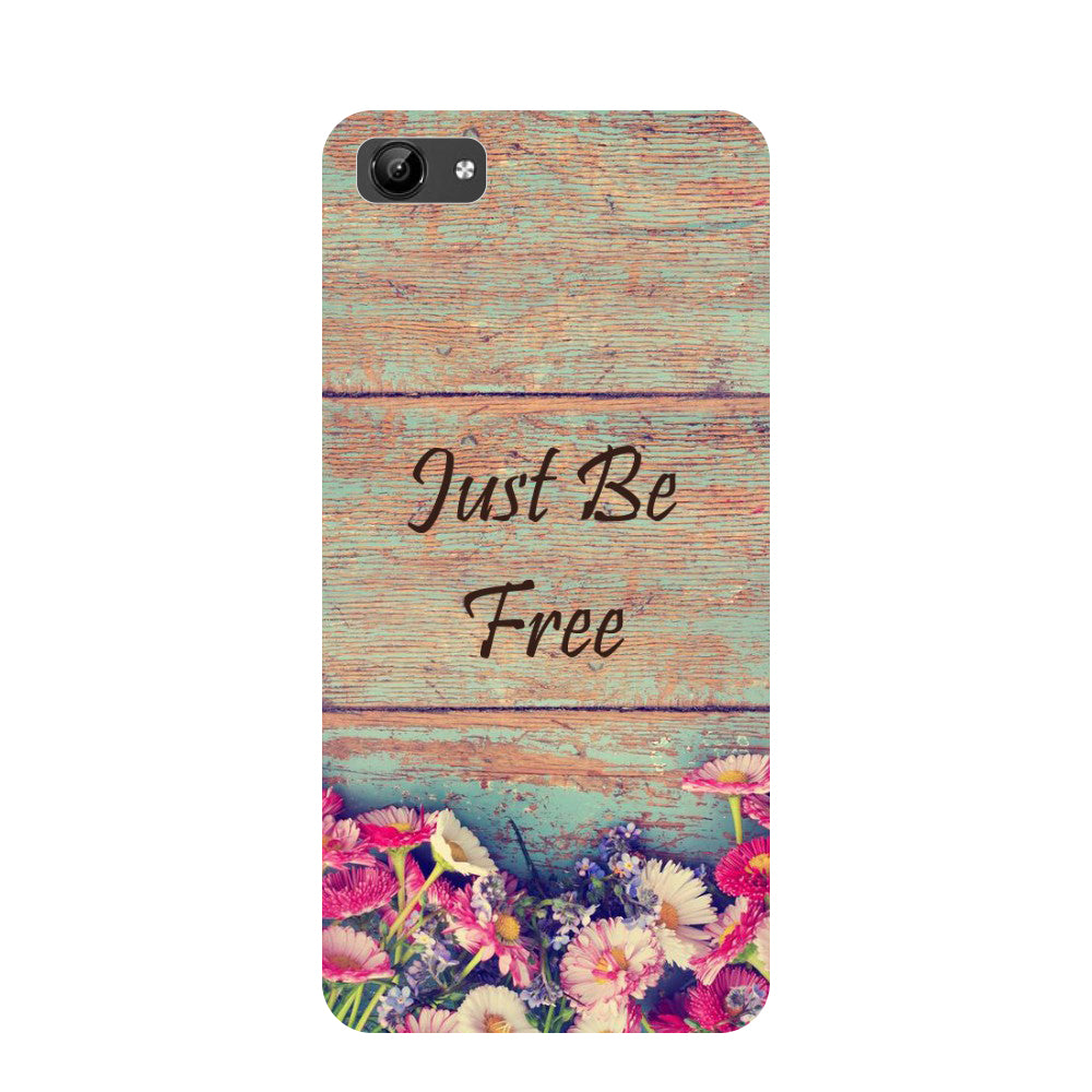 Be free- Printed Hard Back Case Cover for Vivo Y71