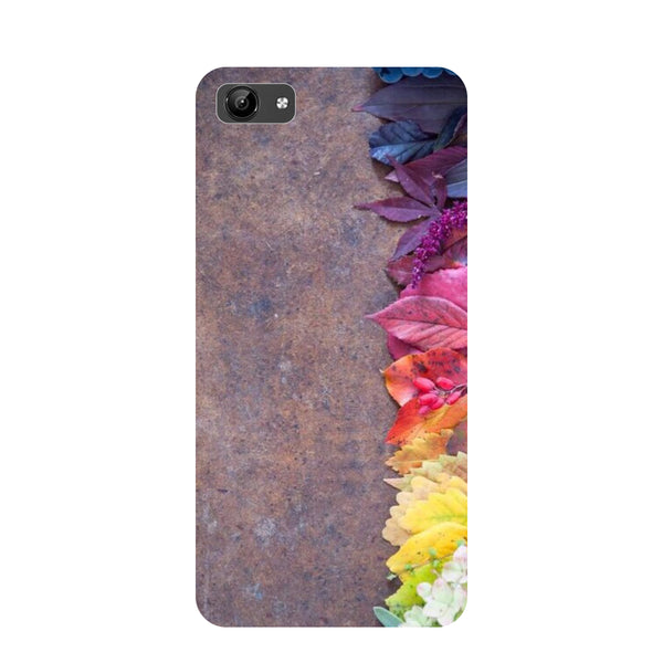 Side flowers- Printed Hard Back Case Cover for Vivo Y71