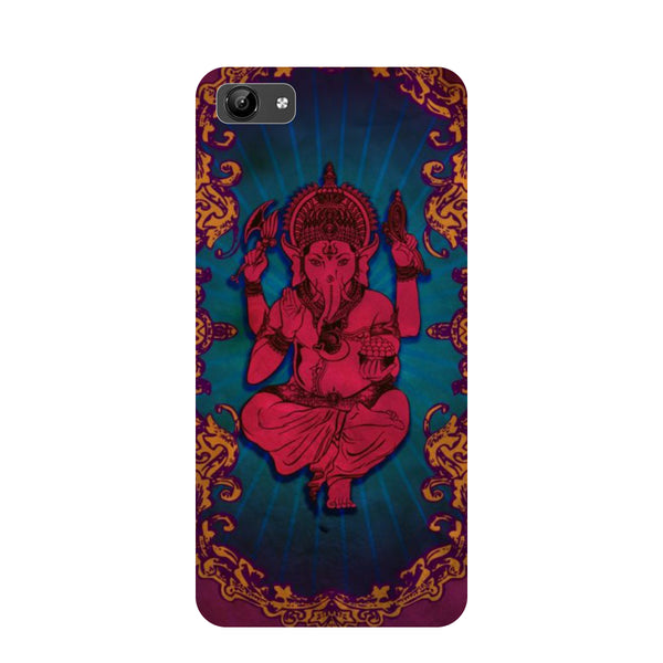 Red Ganesha- Printed Hard Back Case Cover for Vivo Y71-Hamee India