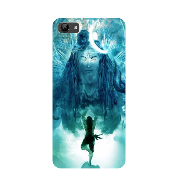 Standing shiv ji- Printed Hard Back Case Cover for Vivo Y71-Hamee India