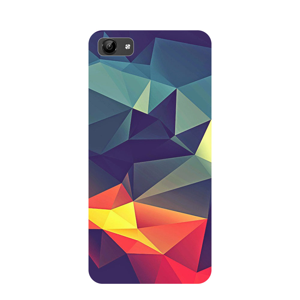 Abstract- Printed Hard Back Case Cover for Vivo Y71