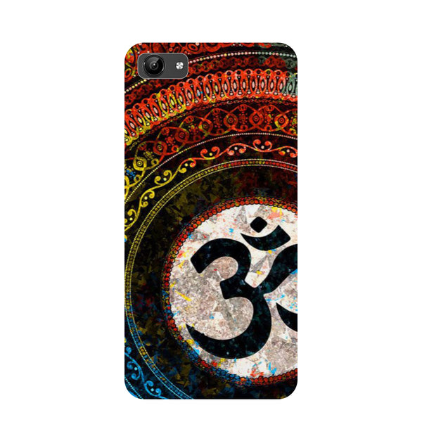 Om- Printed Hard Back Case Cover for Vivo Y71-Hamee India