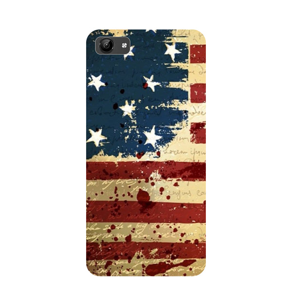 Flag- Printed Hard Back Case Cover for Vivo Y71