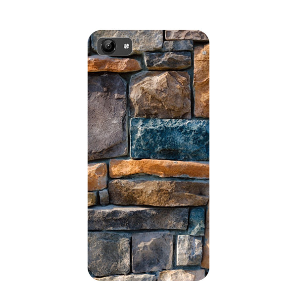 Stone Wall- Printed Hard Back Case Cover for Vivo Y71-Hamee India