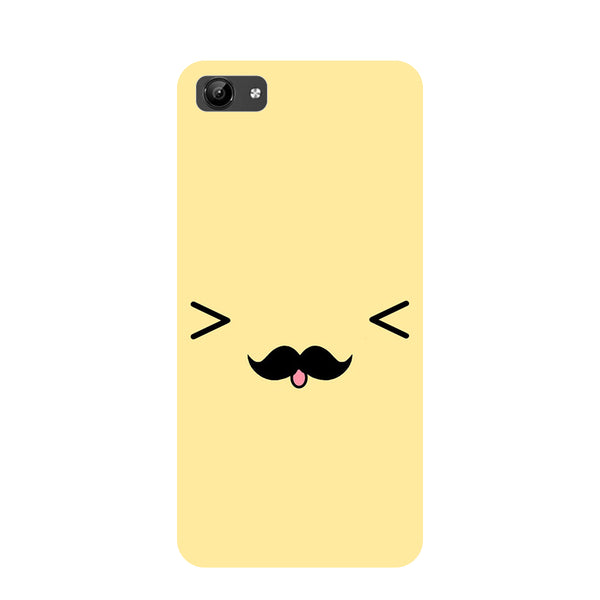 Cute Emoji- Printed Hard Back Case Cover for Vivo Y71-Hamee India