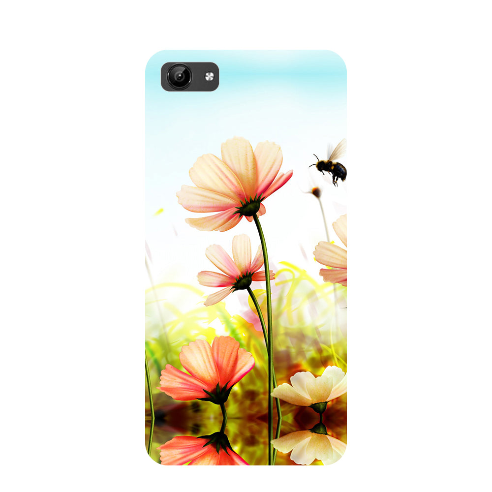 Flower bee- Printed Hard Back Case Cover for Vivo Y71