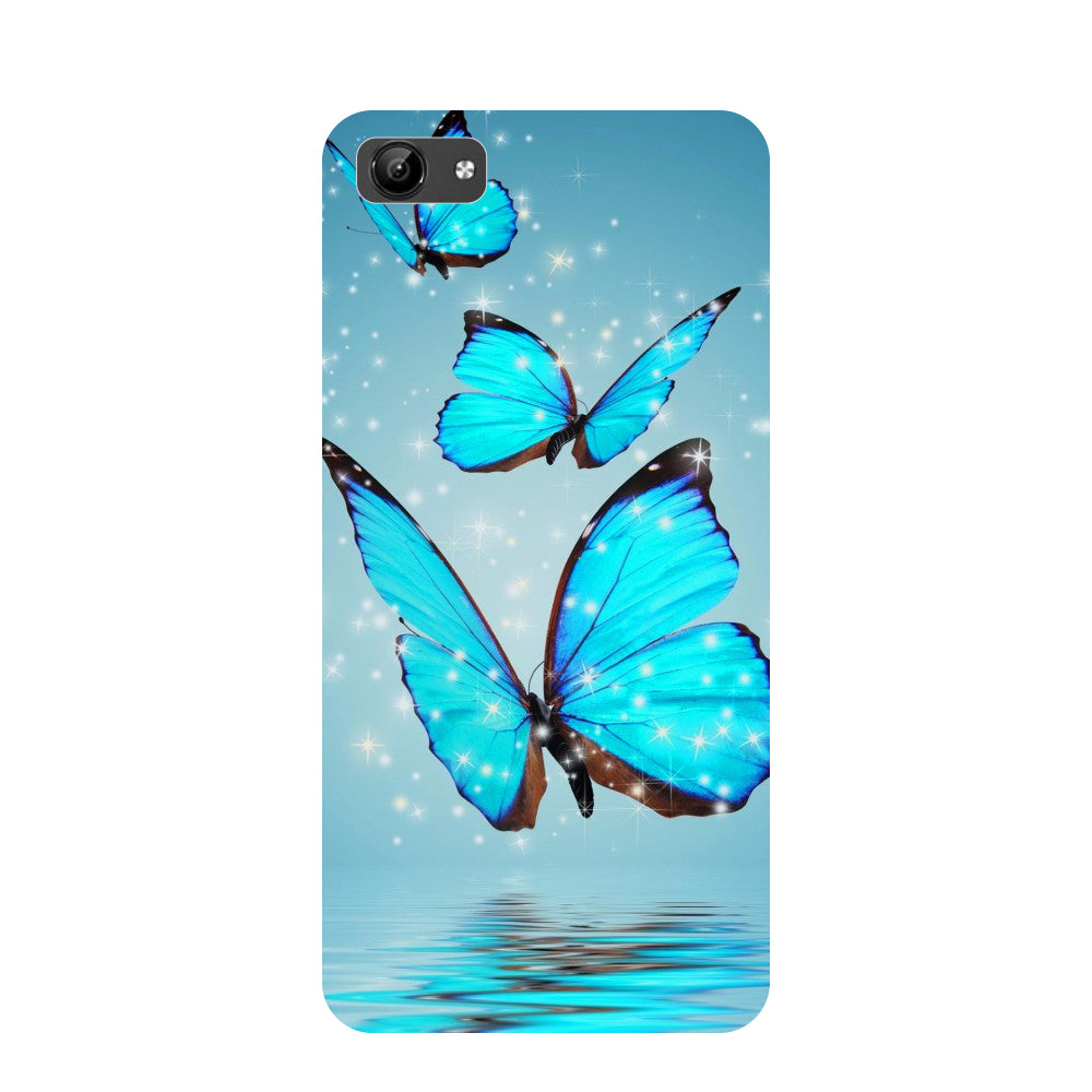 Blue Butterflies- Printed Hard Back Case Cover for Vivo Y71-Hamee India
