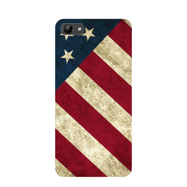 USA flag- Printed Hard Back Case Cover for Vivo Y71-Hamee India