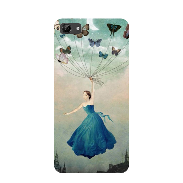 Girl butterflies- Printed Hard Back Case Cover for Vivo Y71-Hamee India