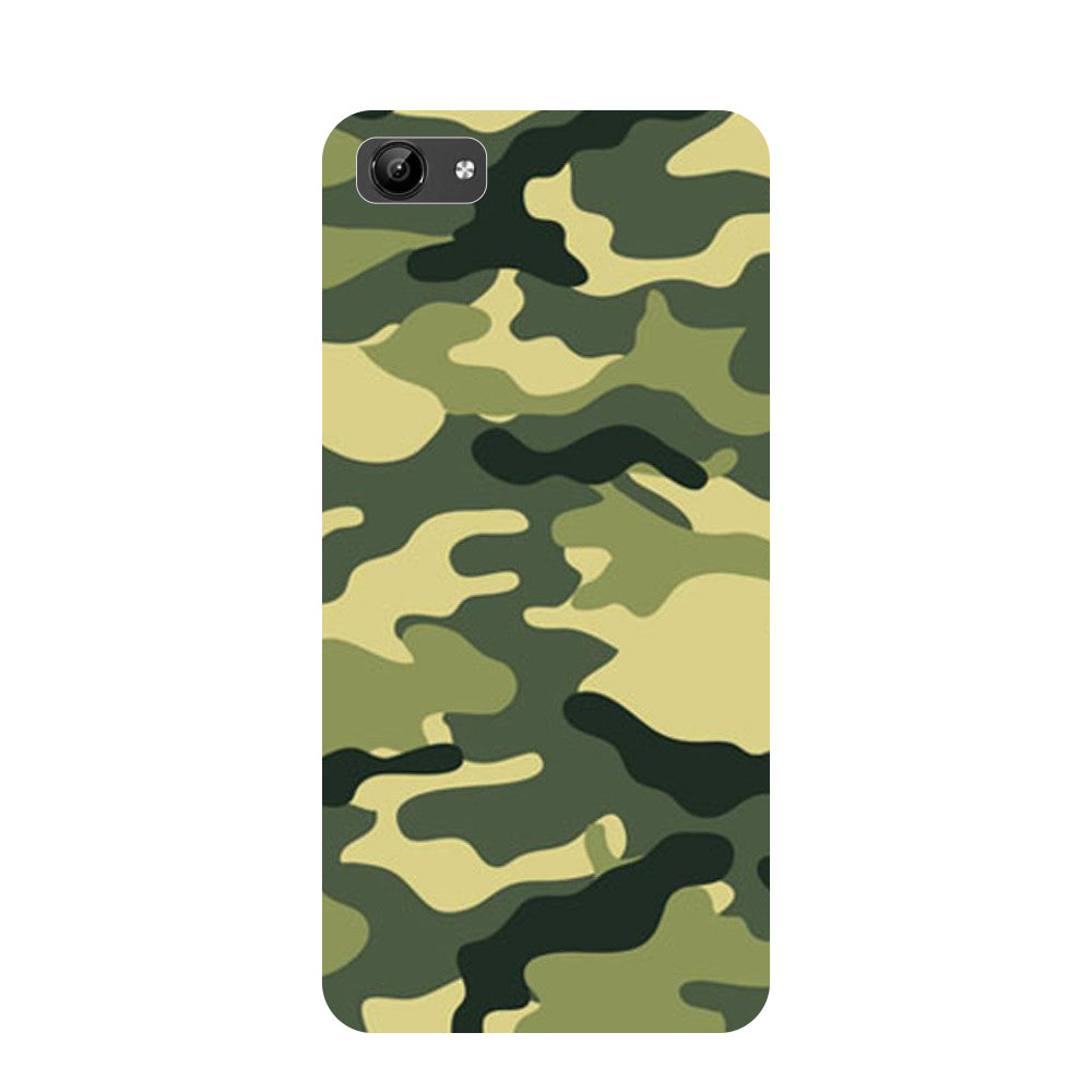 Army Camouflage- Printed Hard Back Case Cover for Vivo Y71-Hamee India
