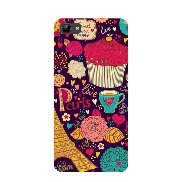 Cupcake- Printed Hard Back Case Cover for Vivo Y71-Hamee India