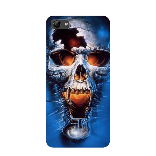 Skull blue- Printed Hard Back Case Cover for Vivo Y71