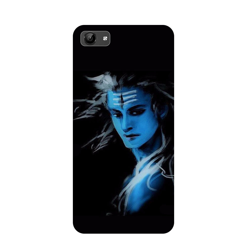 Blue black Shiva- Printed Hard Back Case Cover for Vivo Y71-Hamee India
