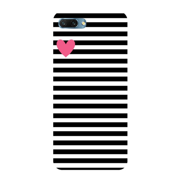 Stripes heart- Printed Hard Back Case Cover for Honor 10
