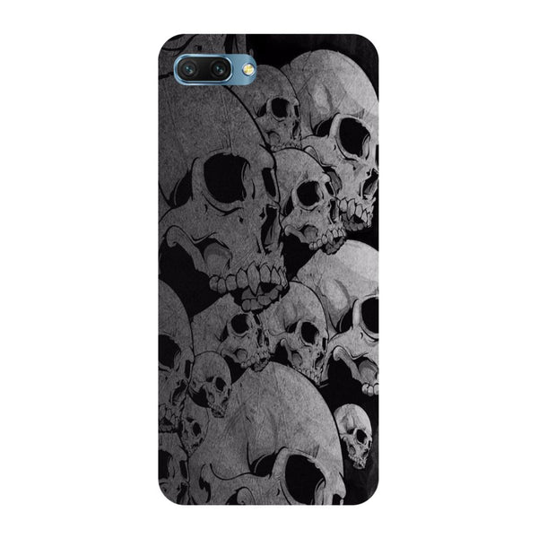 Skulls- Printed Hard Back Case Cover for Honor 10