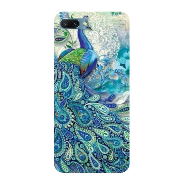 Blue peacock Oppo A3s Back Cover