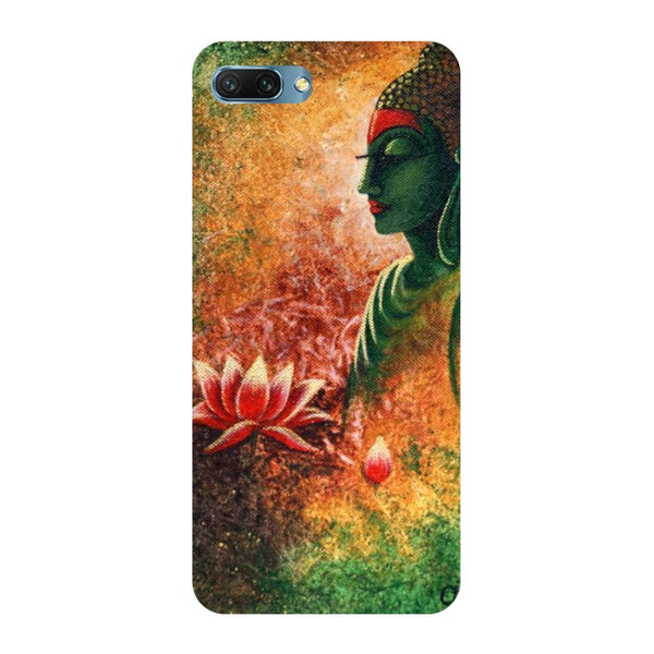 Buddha side pose Oppo A3s Back Cover