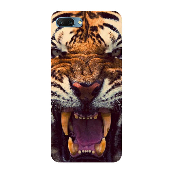 Tiger- Printed Hard Back Case Cover for Honor 10