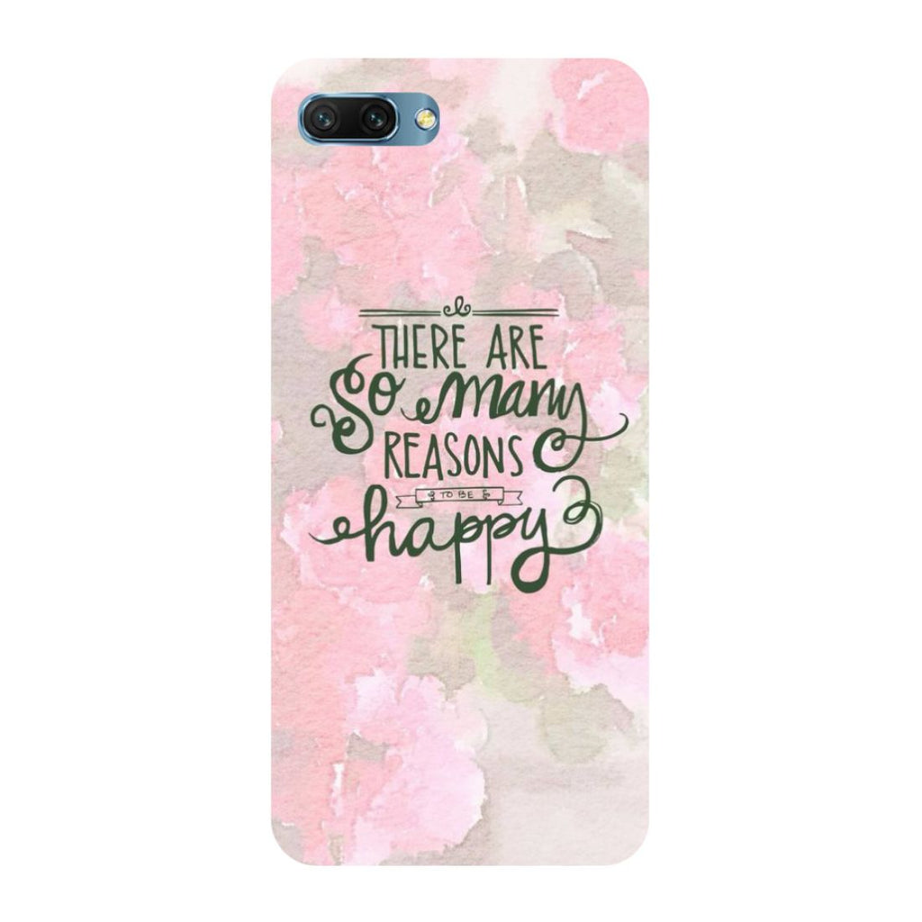 Be Happy- Printed Hard Back Case Cover for Honor 10