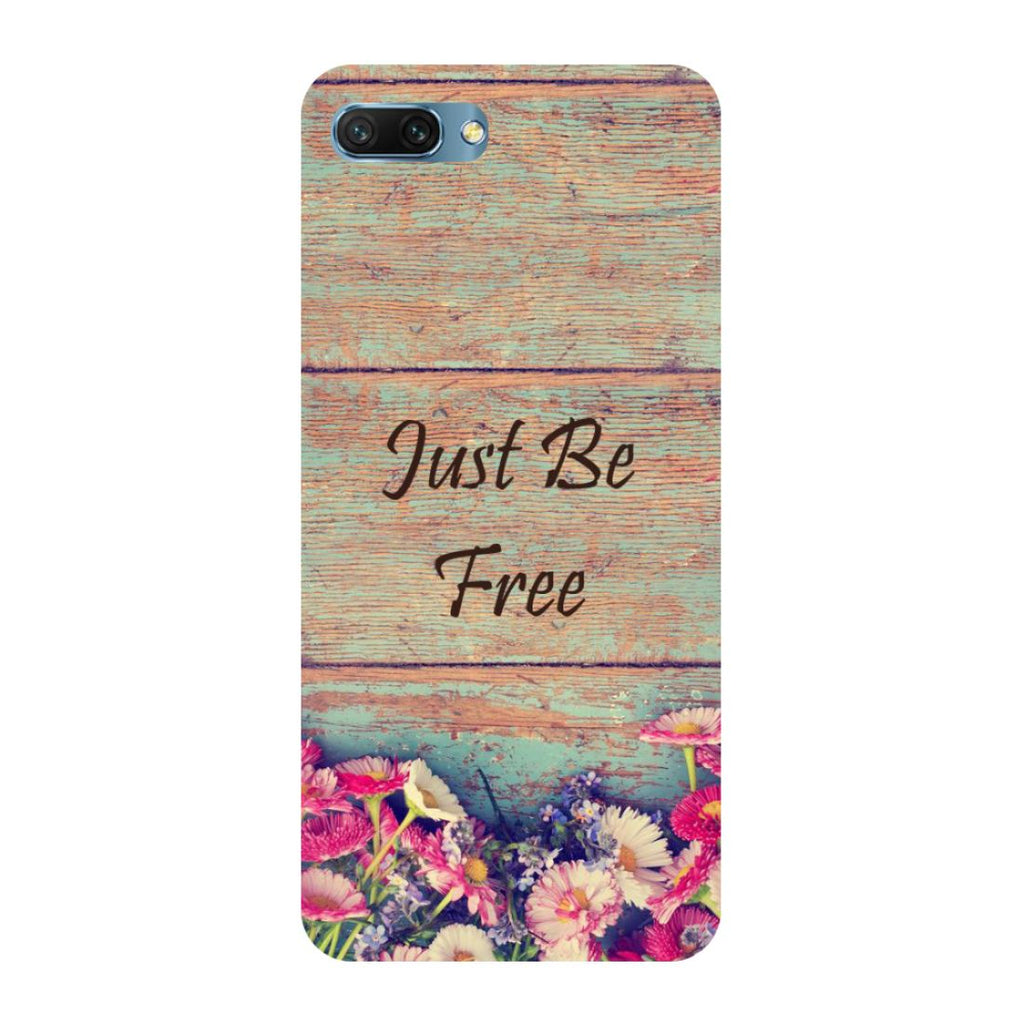 Be free- Printed Hard Back Case Cover for Honor 10-Hamee India