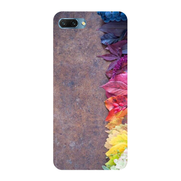 Side flowers- Printed Hard Back Case Cover for Honor 10