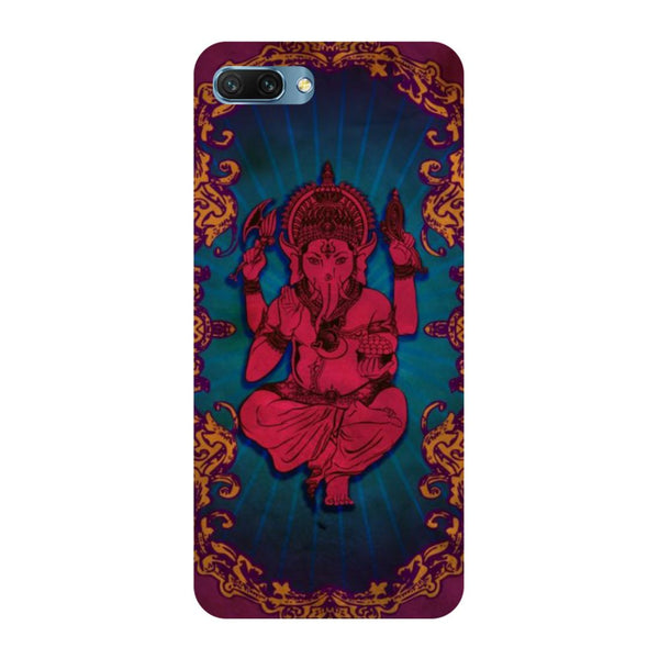 Red Ganesha- Printed Hard Back Case Cover for Honor 10