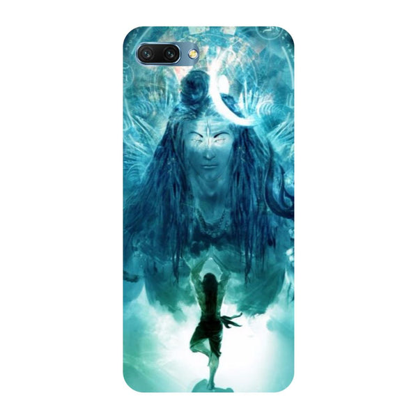 Standing shiv ji- Printed Hard Back Case Cover for Honor 10