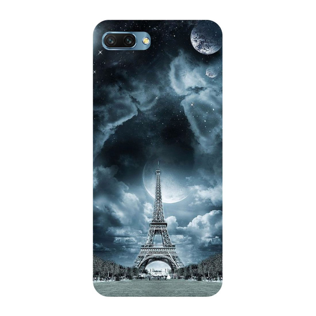Blue Eiffel- Printed Hard Back Case Cover for Honor 10-Hamee India