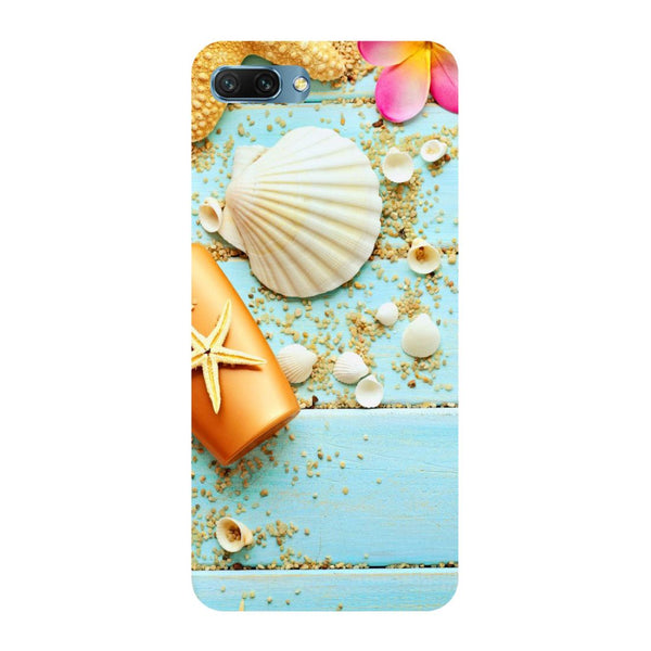 Shells- Printed Hard Back Case Cover for Honor 10