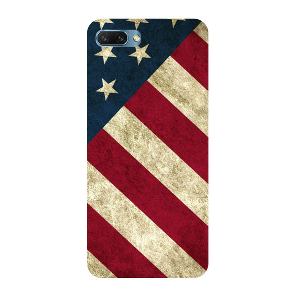 USA flag- Printed Hard Back Case Cover for Honor 10