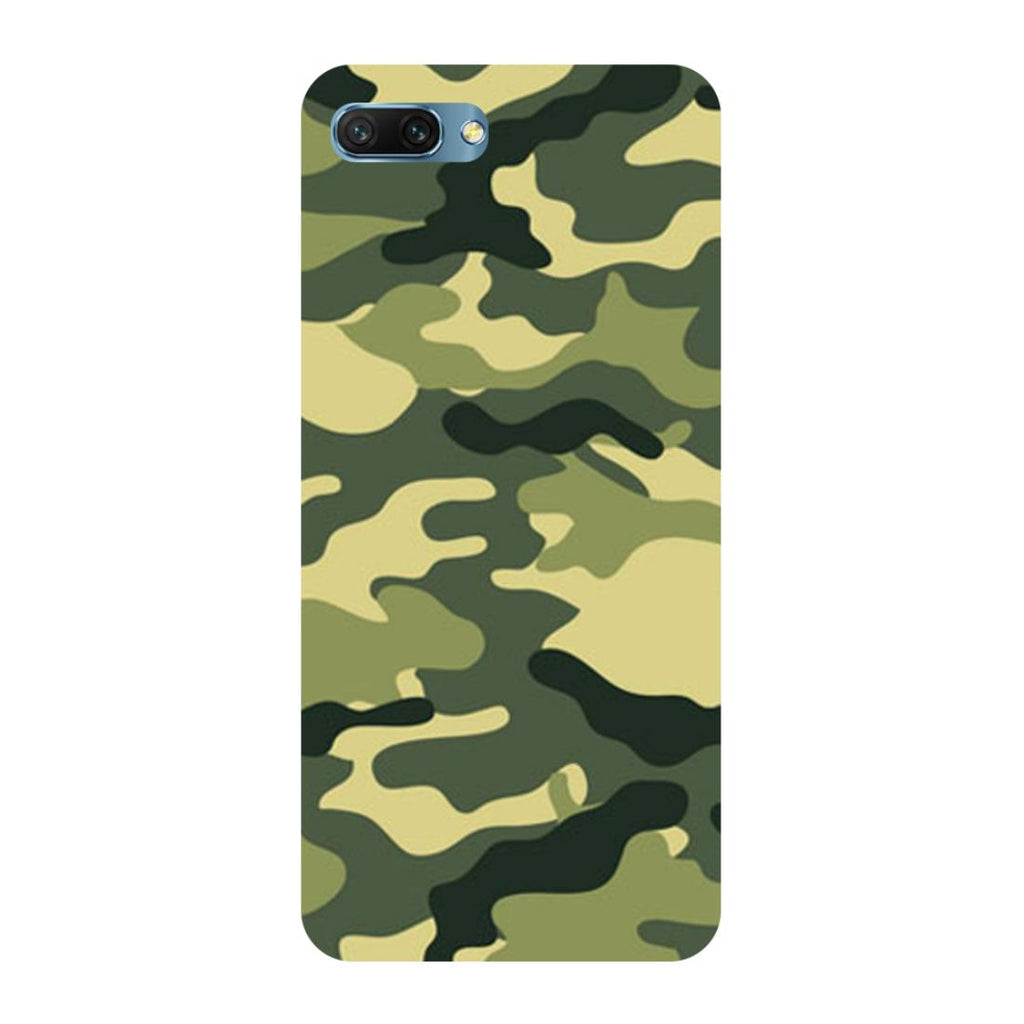 Army Camouflage- Printed Hard Back Case Cover for Honor 10