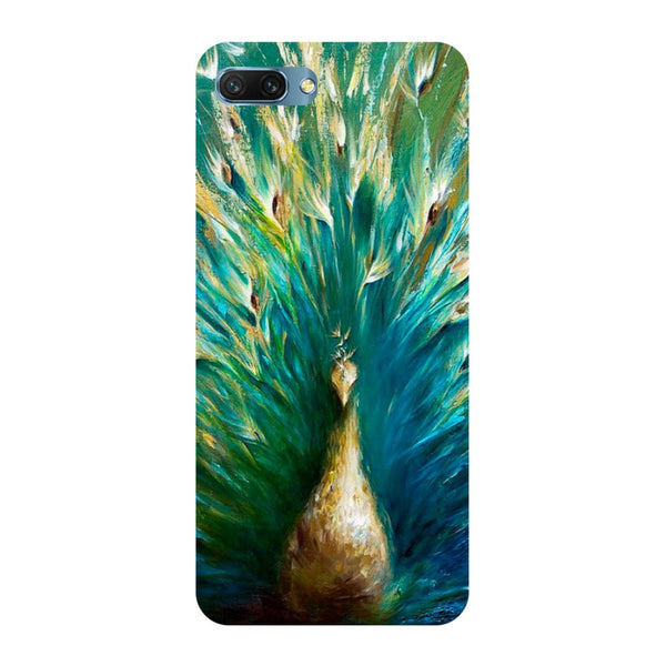 Peacock painting- Printed Hard Back Case Cover for Honor 10