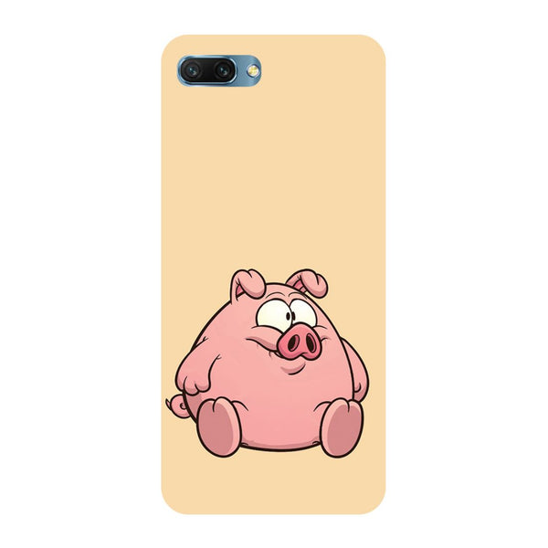 Piggy- Printed Hard Back Case Cover for Honor 10