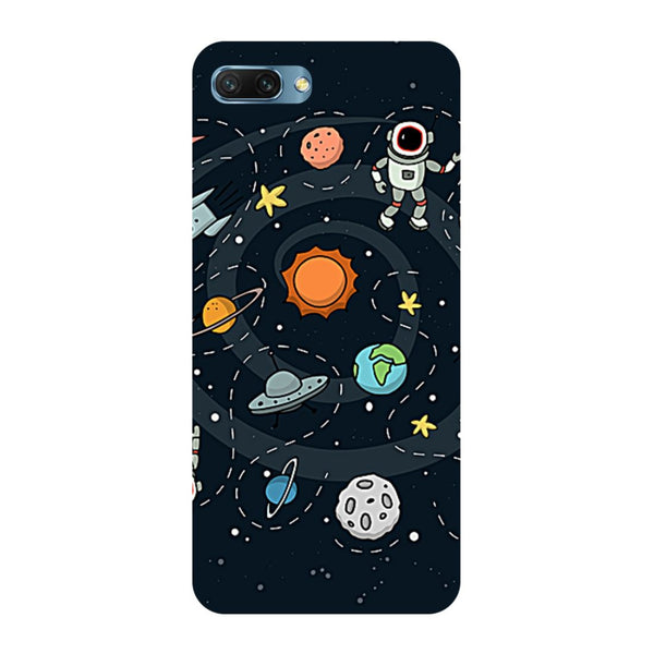 Planets- Printed Hard Back Case Cover for Honor 10